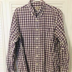 J. Crew Purple Gingham Button Down Shirt